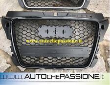 Griglia Calandra per AUDI A3 8P 2008>2012 RS 3 Look nero lucido black grill