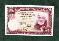 BILLETE 50    PESETAS 1951 SERIE A 1819400   SC SIN CIRCULAR