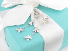 Auth Tiffany & Co Silver Triple X Dangle Dangling Earrings