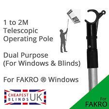 Techo Skylight operativo Varilla Poste Para fakro ventanas Y Persianas - 2m Telescópica