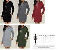 Women's Long Sleeve Round Collar Hoodie Sweater
