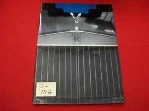 ORIGINAL FACTORY ISSUED 1984-1986 ROLLS ROYCE 4-MODELS DELUXE SALES BROCHURE VGC