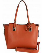 VIBRANT CAMEL BROWN TWO IN ONE TOTE SATCHEL BAG
