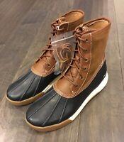 Polo Ralph Lauren Declan Duck Winter Boots Brown Navy New Men's Size 9.5