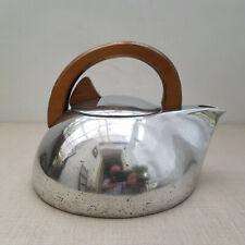More details for vintage picquot ware kettle - stove top - midcentury modernist - aluminium
