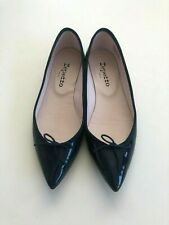 Repetto Brigitte Pointed Toe Ballet Flats Patent Navy 7.5 38.5 $365✨worn ONCE