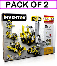 (2-PACK) Engino ENG-1234 Inventor - Build 12 Construction Models Building Kit
