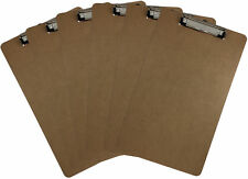Legal Size Clipboard 9'' x 15.5'' Low Profile Clip Hardboard Single (Pack of 6)