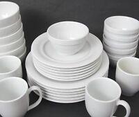 Set of 6 Pottery Barn Bistro White Porcelain Ice Cream Dessert Bowls