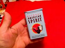 Natural American Spirit EMPTY Cigarette Tin, 20th Anniversary, BLUE SLIDE, NOS
