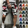 Camouflage Mens Cargo Shorts Combat Military Camo Pockets Workout Short Pants