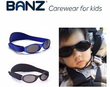 Baby Banz Black Eyewear Sunglasses for Babies with Soft Case