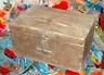 Ancienne Caisse Coffre Valise malle meuble voyage vintage bois deco living room