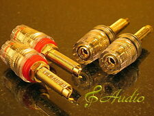 4 pcs Professional Gold Plated Long Thread Binding Post for Speaker & Amplifier
