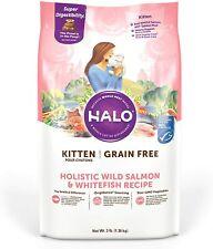 Halo Grain Free Natural Dry Cat Food, Kitten Wild Salmon & Whitefish Recipe