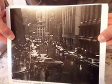 1950s Wall St Finance Stock Market OLD CARS NYC New York City Photo 8 x 10 LOOK!