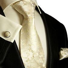 Krawatten Set 3tg champagner 100% SEIDE Paul Malone 948