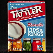 TATTLER Reusable REGULAR Canning Lids & Rubber Rings BPA FREE - Bulk 1 Dozen