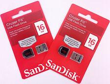 SanDisk 16GB x 2 = 32GB Cruzer FIT USB Flash Thumb Drive SDCZ33-016G-B35 2PK