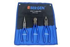 """Bergen 8"""" 200mm 3pc Juego de alicates, Cortador Lateral, Punta Larga, alicates combinación B1754"""