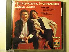 NADJA SALERNO-SONNENBERG & CECILE LICAD BRAHMS & FRANCK EMI RECORDS 1988 CD