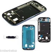 MIDDLE FRAME TELAIO CENTRALE METAL PLATE PER SAMSUNG GALAXY S3 i9300 BLU TASTI