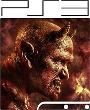 Playstation 3 PS3 SLIM DIAVOLO SATANA ADESIVO IN VINILE sottile