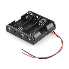 Portabatterie 4 posti per batterie stilo tipo AA con fili