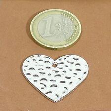 12 Hanging Hearts 28mm t159c tibetan silver heart cuore HERZ heart sheds