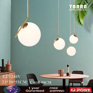 Nordic Pendant Light Chandelier Bedroom  Bar Lamp Glass Aluminum Ceiling Lights