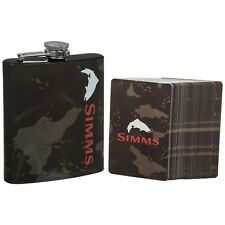 Simms Fly Fishing Camp Gift Pack - Deck Playing Cards & Camo Whiskey Flask NEW!