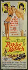 BIKINI BEACH 1964 ORIGINAL 14X36 MOVIE POSTER FRANKIE AVALON ANNETTE FUNICELLO