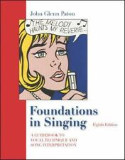 Foundations in Singing by John Glenn Paton and Van A. Christy (2005, CD)