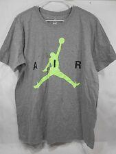 NEW Nike Air Jumping Man Logo Gray T-Shirt 689127 084 Size L ***