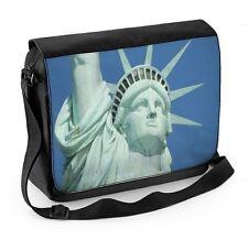Statue of Liberty Close Up Laptop Messenger Bag - New York USA America