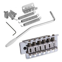 For Fender Stratocaster Strat Electric Guitar Chrome Tremolo Bridge System Parts