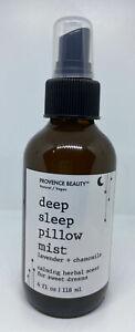 New Provence Beauty Lavender + Chamomile Deep Sleep Calm Pillow Spray Mist 4 oz