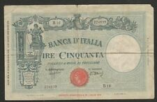 1943 ITALY 50 LIRE NOTE