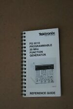 Tektronics Fg 5010 Programmable 20 Mhz Function Generator Reference Guide