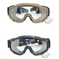 FMA Airsoft Paintball Protective Glasses SI Ballistic Goggle For Helmet BK/DE
