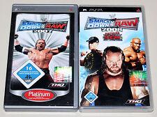 2 PSP GIOCHI SET-SMACKDOWN VS RAW 2007 & 2008-come nuovo-ECW WWF WWE