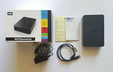 WD Western Digital Elements 2TB USB External Hard Drive w/ Box , Manuals, Cables