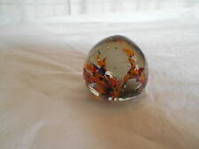 Lovely art glass paperweight autumn colors