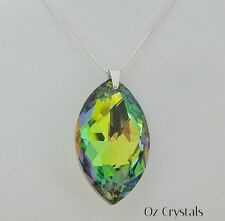 Necklace made with Swarovski Vitrail Medium Marquise & Solid Sterling Silver