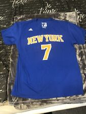 Carmelo Anthony New York Knicks Adidas Tee Shirt Blue L Men's