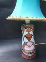 MARTIN BOYD BROWN LADY LAMP BASE  AUSTRALIAN POTTERY SIGNED  RARE 1950's