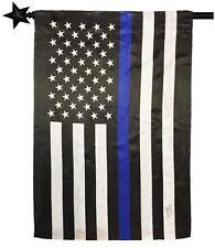 "Thin Blue Line Dye Sublimated 28""x 40"" Police Flag with Pole Sleeve FREE SHIP!"