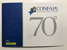 2017 Folder 70° CONFAPI Edizione Limitata 6000 Replica Francobollo Raso