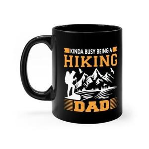 Hiking Dad Black Mug - Love Hiking - Hiking addicted Mug