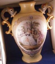 Huge Antique 19thC Dresden Porcelain Scenic & Floral Vase Porzellan Scene #2